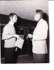 with Charlton Heston, 1969 (?)