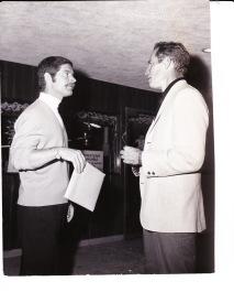 with Charlton Heston, 1969 (?)
