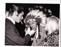 "at ""Shalako"" premiere event, 1968 with Diane Cilento"