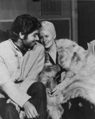 with Jean Seberg, 1971