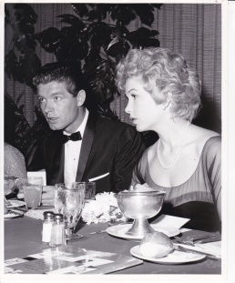 with Stella Stevens, 1960