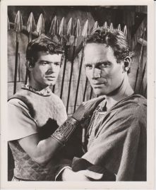 With Charlton Heston