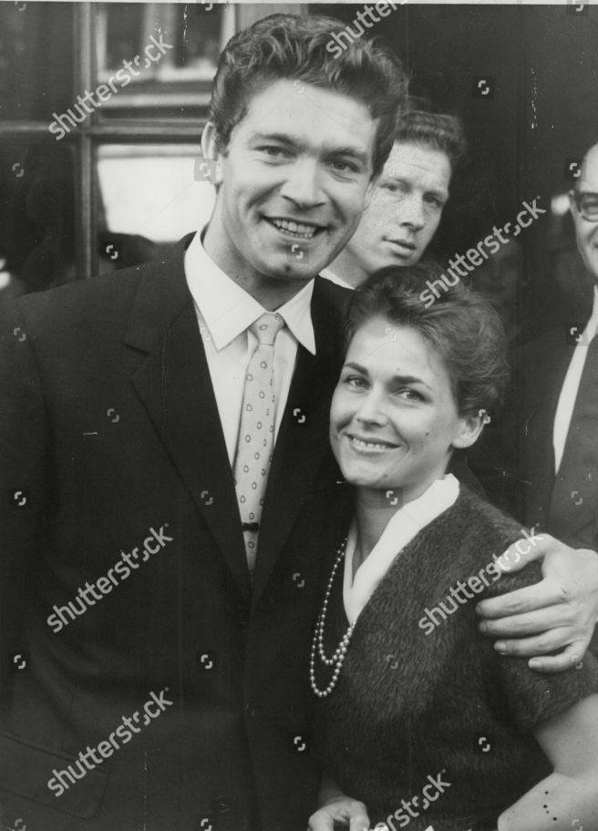 Actor Stephen Boyd And Wife Mariella Di Sarzana After Their Fulham Registry Office Wedding. Box 723 508121633 A.jpg.