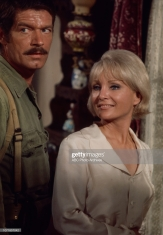 Unspecified - 1970: (L-R) Stephen Boyd, Susan Oliver appearing on the Walt Disney Television via Getty Images tv movie 'Carter's Army', January 27, 1970. (Photo by Walt Disney Television via Getty Images)